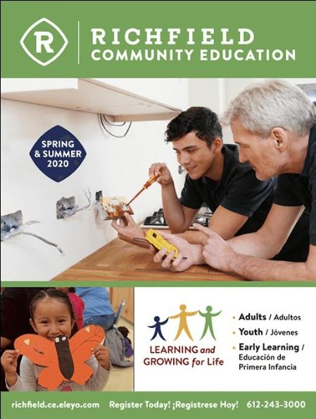 Richfield Community Education Spring Summer Catalog 2020