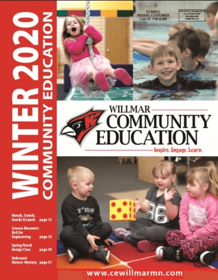 Willmar Community Education Winter 2020 catalog