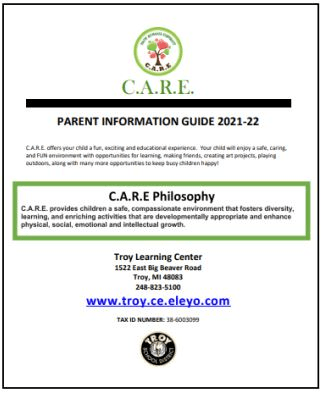 2021-22 CARE Parent Information Guide