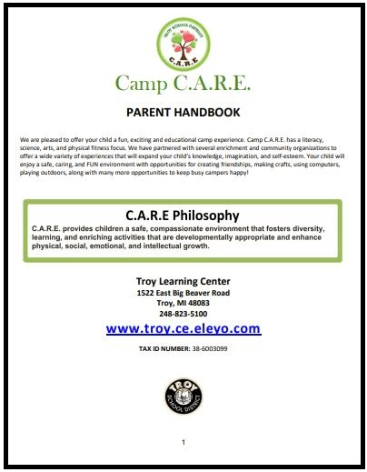 Camp Parent Guide
