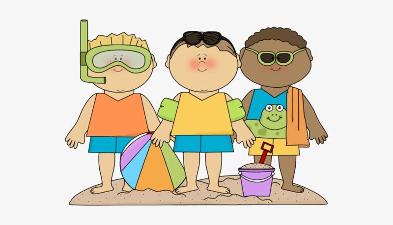 Three boys on the beach