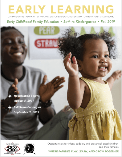 South Washington County Schools Early Childhood Family Education Fall 2019 Catalog