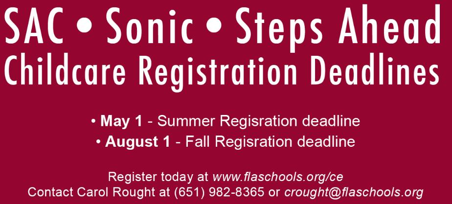 Sac Sonic Steps Ahead Registration