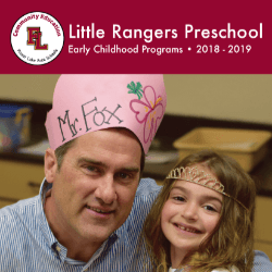 Little Rangers Preschool 2018-2019
