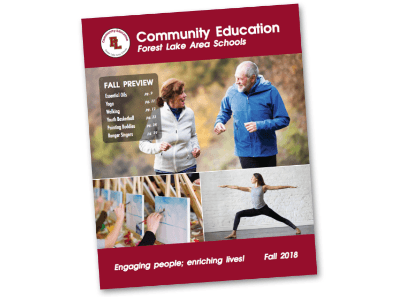 Forest Lake Area Schools Community Education Fall 2018 Catalog