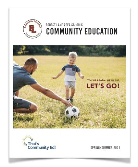 Forest Lake Area Schools Community Education Spring/Summer 2021 Catalog